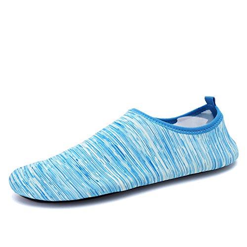 Men Swim and Slipper Shoes WAWEN Blue2 Beach Summer Pool Skin Women's On Aqua Socks Water Surf dPA15Rac1