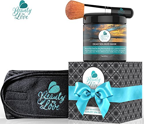 Dead Sea Mud Mask Luxury Gift Set - A Perfect Gift! A Relaxing Day Spa at Home.