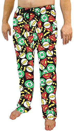 DC Comics Justice League All Over Print Men's Sleep Pants Pajamas (Medium)