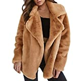 Womens Coats Liraly Winter Coat Keep Warm Outerwear Loose Big Collar Fur Coat Outcoat Jacket