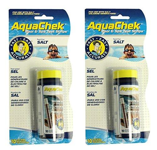 (2) New Aquachek 561140A Swimming Pool Spa White Salt Titrators Test Kit Strips)