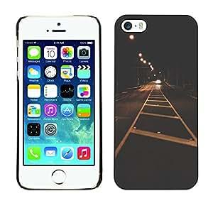 For Apple iPhone 5 / iPhone 5S Case , City Lights Vignette Freedom Drive - Diseño Patrón Teléfono Caso Cubierta Case Bumper Duro Protección Case Cover Funda