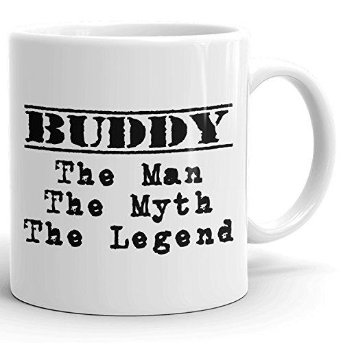 Best Personalized Mens Gift! The Man the Myth the Legend - Coffee Mug Cup for Dad Boyfriend Husband Grandpa Brother in the Morning or the Office - B Set 2