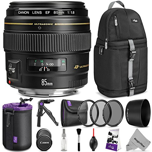 Canon EF 85mm f/1.8 USM Lens w/Advanced Photo and Travel Bun