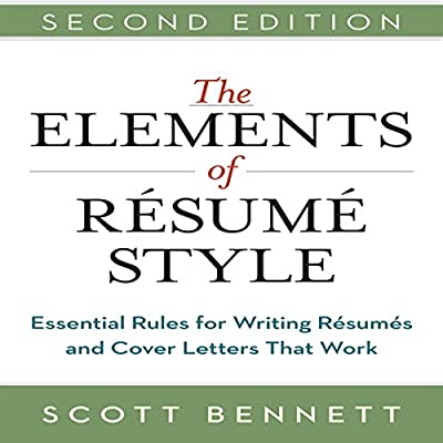 Amazon Com The Elements Of Resume Style Essential Rules