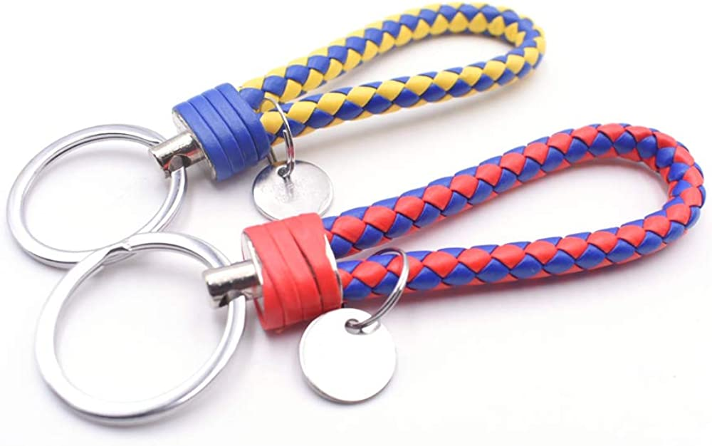 Keychain Hand Rope integrity.1 10 Piece Leather Braided Keychain Key Chain Pendant Car Keychain Hand Rope Leather Braided Lanyard Horseshoe Buckle for Car Pendant