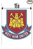 West Ham United FC United Kingdom Soccer Football Club FC 2 Stickers Car Bumper Window Sticker Decal Huge 18 inches