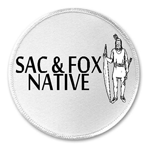 """Sac & Fox Native - 3"""" Sew Iron On Patch American Indian, used for sale  Delivered anywhere in USA"""