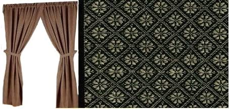 Home Collection by Raghu 2-Piece Kingston Jacquard Panels, 84 by 86-Inch, Black Nutmeg