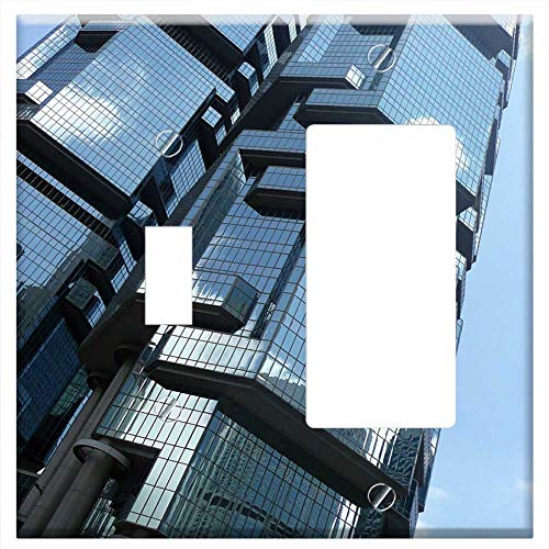 1-Toggle 1-Rocker/GFCI Combination Wall Plate Cover - Building Mirror Lippo Center Hong Kong Skyscr