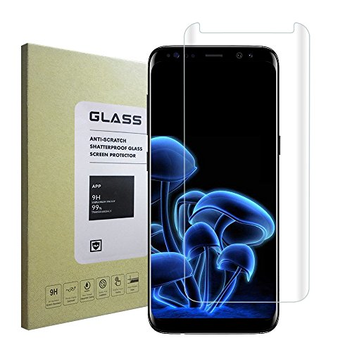 Galaxy S8 Screen Protector,Ultra High Definition Easy-to-install 3D Curved Case Friendly Glass for Samsung Galaxy - Glasses Definition