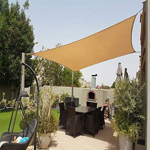 Artpuch Sun Shade Sail 10'x10' Square Canopy Sand Cover for Patio Outdoor Backyard Shade Sail for Garden Pool ()