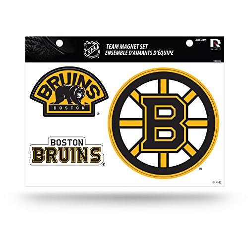 NHL Boston Bruins Die Cut Team Magnet Set Sheet