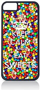 Keep Calm and Eat Sweets - Iphone 6 Black Plastic case - compatible with Iphone 6 only by ruishername