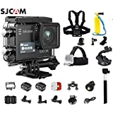 SJCAM SJ6 Kit Including Extra Battery, 5-in-1 Accessories SJ6 LEGEND Dual Screen 2″ LCD Touch Screen 2880×2160 Novatek NT96660 Panasonic MN34120PA CMOS 4K Ultra HD Sport DV Action Camera