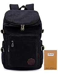 KAUKKO Vintage Canvas Backpack Travel Hiking Knapsack Rucksack Satchel Stylish Backpacks