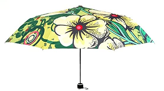 Amazon.com : Katoot@ Beautiful Flower Fairy silver coating manual umbrella rain sun women fashion illustration plegable sombrillas paraguas de mujer ...