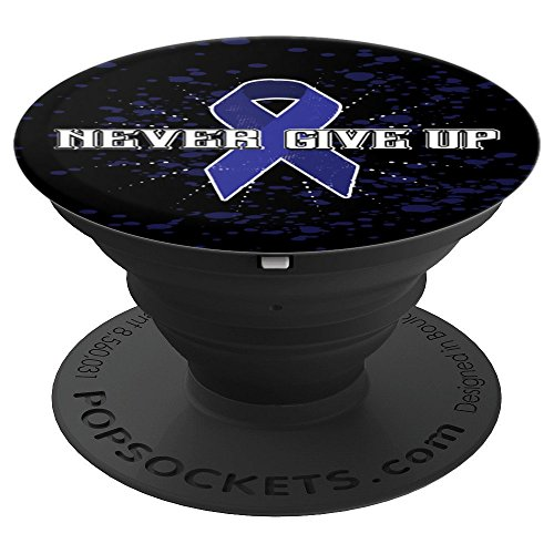 Colon Cancer Awareness Supporting Colon Cancer Gifts - PopSockets Grip and Stand for Phones and Tablets