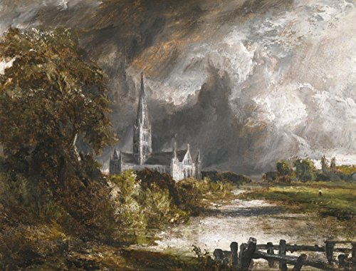 Gifts Delight Laminated 17x13 Poster: John Constable Salisbury Cathedral from The Meadows Byrons Muse