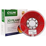 eSUN 3D 1.75mm PETG Red Filament 1kg (2.2lb), PETG 3D Printer Filament, 1.75mm Solid Opaque Red