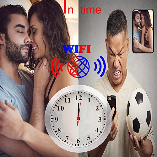 SMUKYDX WiFi Hidden Camera Wall Clock Spy Camera Nanny Cam with Motion Detection, Indoor Covert Security Camera for Home and Office Covert Wall Clock Camera