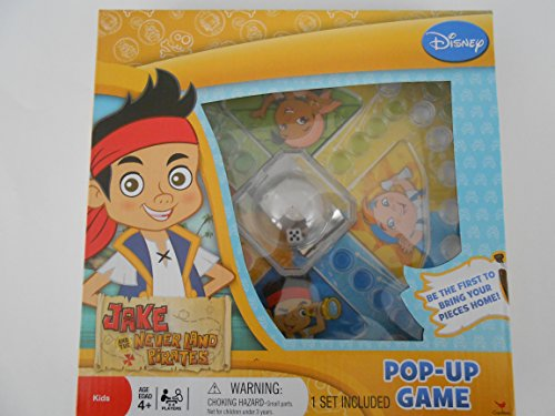 Jake and the Neverland Pirates Original Trouble Pop Up Board Game With Jake, Izzy, Cubby, & Skully.For Family Boys And Girls]()