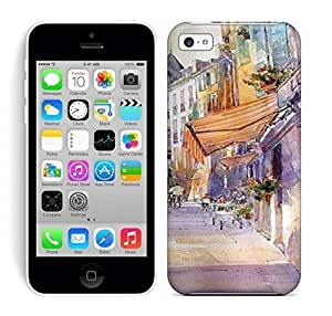 Best Power(Tm) HD Colorful Painted Watercolor Luxuriant The City And Busy People Hard Phone Case For Iphone 5C