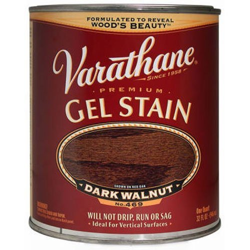 Varathane 224493H Premium Gel Stain, Quart, Dark Walnut (Gel Stain Oak Cabinets Before And After)