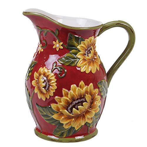 Certified International Sunset Sunflower Pitcher,One Size, Multicolored