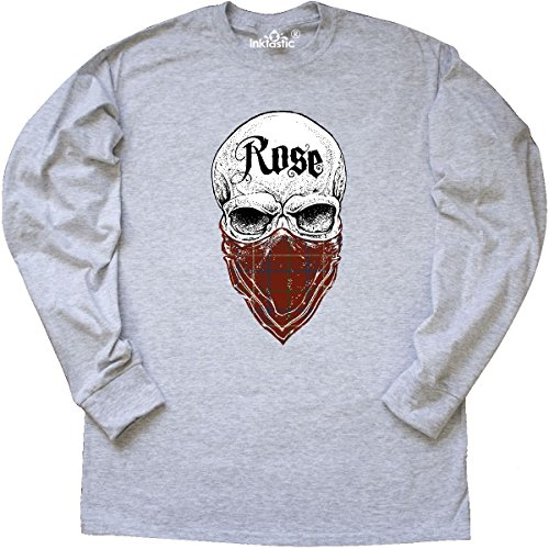 Inktastic - Rose Tartan Bandit Long Sleeve T-Shirt Medium Ash (Rose Ash Grey T-shirt)