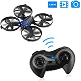 ICOCO 2.4GHz Wireless RC Drone 4 Channel Smart 6 Axis Gyro RC Quadcopter Helicopter with 3D 360 Degree Flips Rolls Altitude Hold Headless HD Camera Remote Control Toys One Key Return for Training/Gif