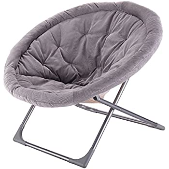 mac at home extra large moon chair with ottoman. giantex oversized large folding saucer moon chair corduroy round seat living room (gray) mac at home extra with ottoman c