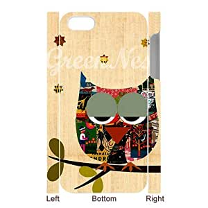 Get Your Own Style Of Owl Case For 3D iPhone5 Image Cover Left And Right Side