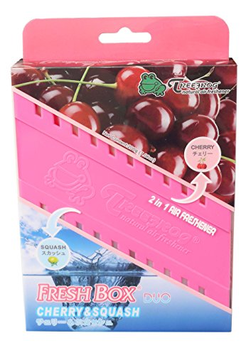 Fresh Box Duo FBDCS01 Treefrog Car Air Freshener Cherry and Squash Scent, 2-in-1 Popular Japan Fragrance (Cherry Fragrance Box)