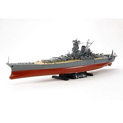 Tamiya 78030 1/350 Japanese Battleship Yamato Plastic Model Boat Kit: Toys & Games