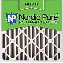 Nordic Pure 20x20x4M13-2 20x20x4 MERV 13 Pleated AC Furnace Air Filter, Box of 2, 4-Inch