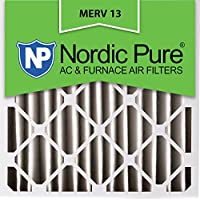 Nordic Pure 20x20x4 (3-5/8 Actual Depth) MERV 13 Pleated AC Furnace Air Filter, Box of 6