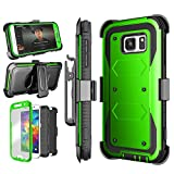 Galaxy S7 Case, Tinysaturn(TM) [Yvenus Series] [Green] Shock Absorbing Holster Belt Swivel Clip [Built-In Screen] Impact Hard Shell Cover Case For Samsung Galaxy S7 S VII G930 GS7 All Carriers Review