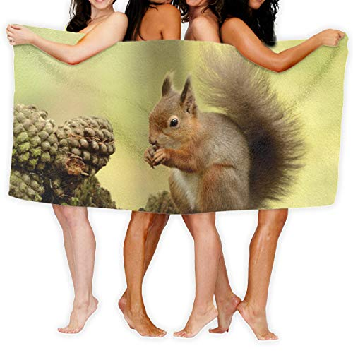 Squirrel Tail Furry Tree Bath Towels Beach Towels Pool Towels Adults Soft Absorbent 31X51 inches