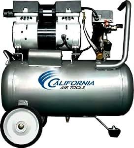 California Air Tools CAT-6310 Ultra Quiet and Oil-Free 1.0 Hp 6.3-Gallon Steel Tank Air Compressor