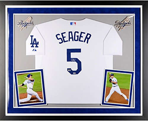 Corey Seager Los Angeles Dodgers Deluxe Framed Autographed White Authentic Jersey - Fanatics Authentic Certified