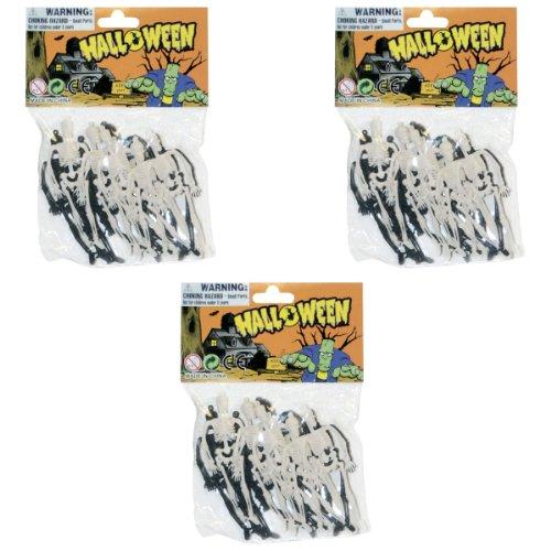Sunstar Industries 3 Bags of 12 Three Inch Skeleton Halloween Prop (36 Pieces Total) ()
