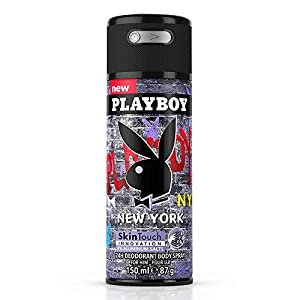 Playboy Fragrances New York Deodorant Body Spray for Men, 5 Ounce