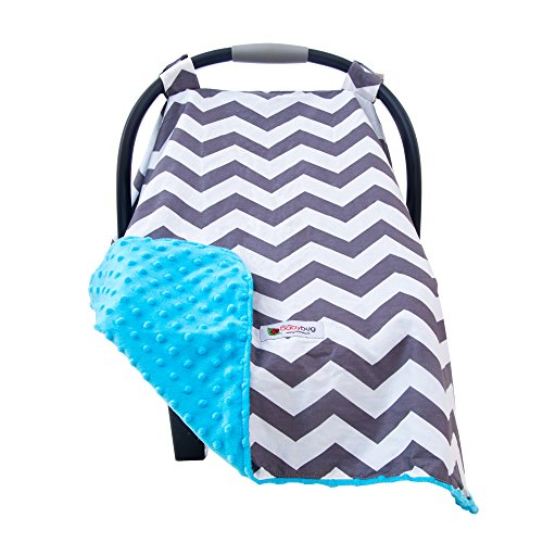 Carseat Canopy Cover Car Seat Canopy Accessories are a Perfect Baby Shower Gift for Baby Girls and Boys! Stretch Jersey Fabric Doubles as a Convenient Breastfeeding or Shopping Cart Cover