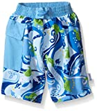 i play. Toddler Boys' Pocket Trunks with Built-In Swim Diaper, Blue Turtle, 3T