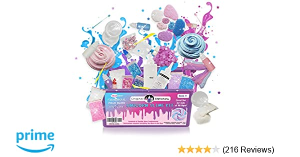 Unicorn Slime Kit Supplies Stuff for Girls Making Slime  Everything in ONE  Box  Kids can Make Unicorn e7d2955c17