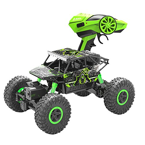 Rabing Newer 2.4Ghz Racing Cars Rc Cars Remote Control Cars Electric Rock Crawler Radio Control Vehicle Off Road Cars(Green or Blue) ()