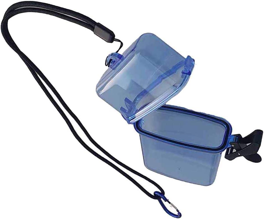 MagiDeal Caja de Almacenamiento Seca Impermeable con Clip Correa de Cuello Port/átil para Buceo Snorkel Kayak