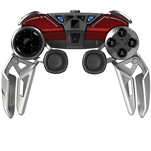 Mad Catz L.Y.N.X.9 Mobile Hybrid Controller with Bluetooth Technology for Android Smartphones, Tablets and PC - Gloss Red ()
