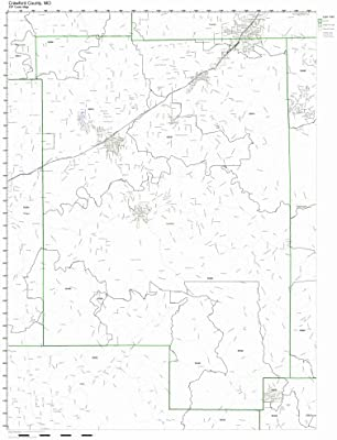 Amazon.com: Crawford County, Missouri MO ZIP Code Map Not Laminated ...